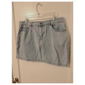 F21+ Jean Mini Skirt